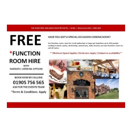 FREE Function Room Hire